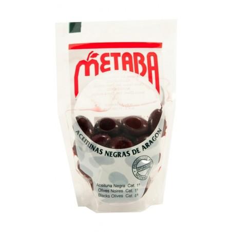 Caja de Aceituna negra frita Metaba bolsa 100 gr (24 unidades)