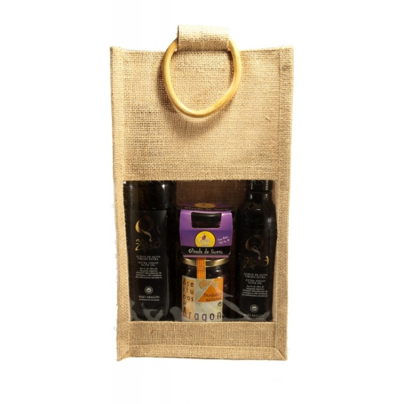 Zeid and olive oil Lot Metaba in jute bag