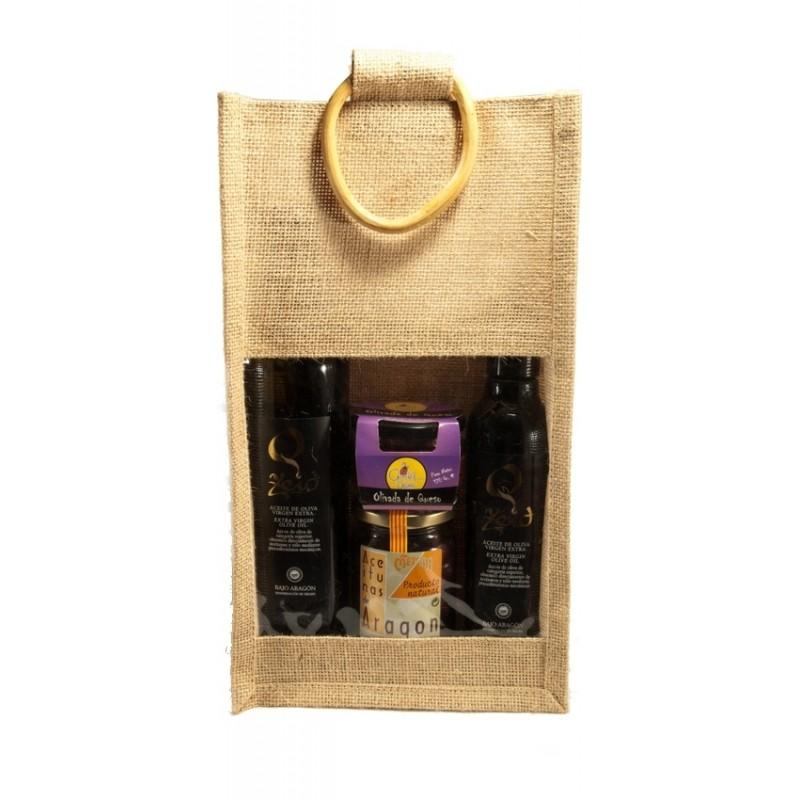 Zeid und Olivenöl Lot Metaba in Jute-Tasche