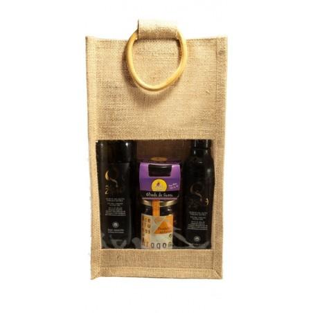 Zeid and olive oil Lot Metaba in jute bag